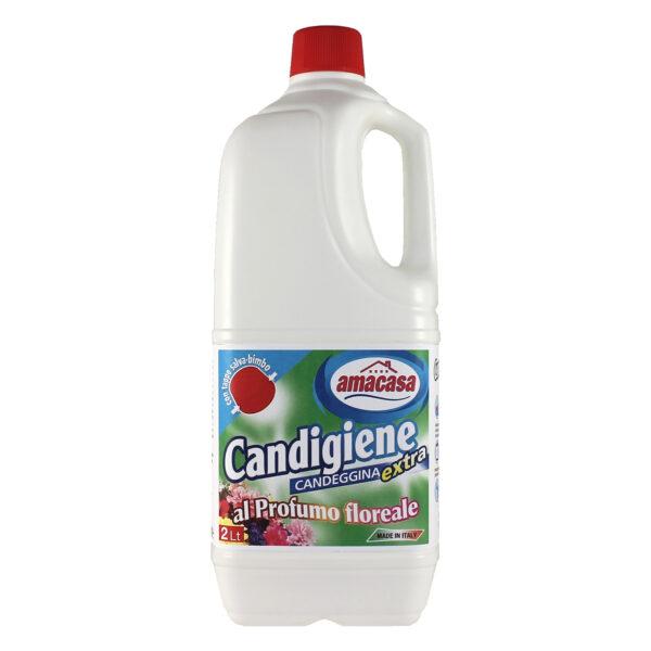 CANDIGIENE Candeggina Profumo Floreale Lt 2,000 AMACASA - 4 strati