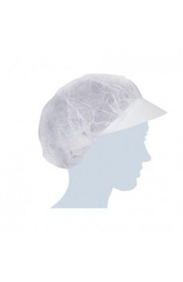Cappellino con elastico e visiera