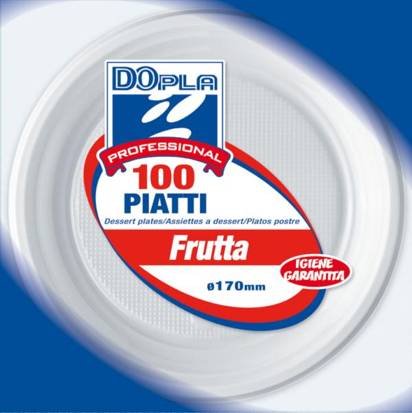 Piatti dessert / frutta - 17cm - bianchi - 100 pz.