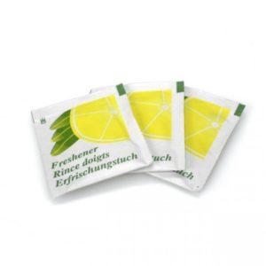 Salviette imbevute al limone