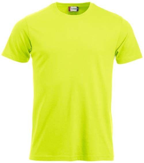 T-shirt CLIQUE verde/giallo acido