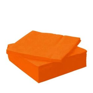 Tovaglioli 25x25 2 veli arancio