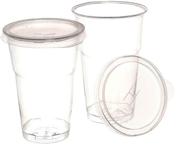 Coperchi in plastica per bicchieri Kristal/Diamant da 390ml