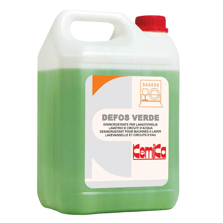 Defos Verde - 5 lt - Disincrostante per lavastoviglie, lavatrici e circuiti d'acqua